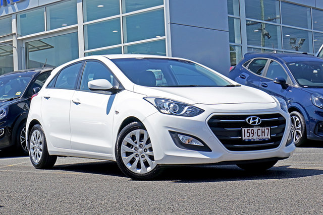 Used Hyundai i30 GD4 Series II MY17 Active Springwood, 2016 Hyundai i30 GD4 Series II MY17 Active White 6 Speed Sports Automatic Hatchback