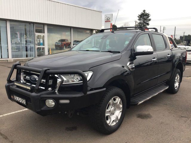 Used Ford Ranger PX MkII XLT Double Cab Cardiff, 2016 Ford Ranger PX MkII XLT Double Cab Black 6 Speed Sports Automatic Utility