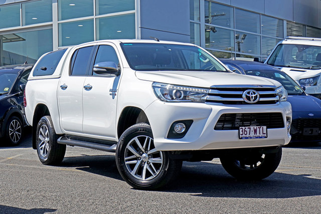 Used Toyota Hilux GUN126R SR5 Double Cab Springwood, 2016 Toyota Hilux GUN126R SR5 Double Cab White 6 Speed Sports Automatic Utility