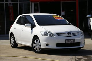 2012 Toyota Corolla ZRE152R MY11 Ascent White 6 Speed Manual Hatchback.