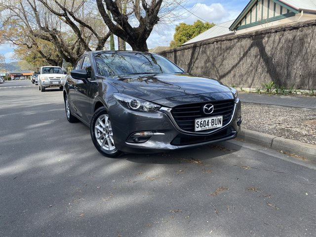Pre-Owned Mazda 3 BN5278 Maxx SKYACTIV-Drive Hawthorn, 2017 Mazda 3 BN5278 Maxx SKYACTIV-Drive Graphite 6 Speed Sports Automatic Sedan
