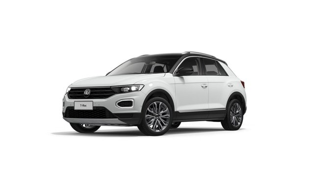 New Volkswagen T-ROC A1 MY21 110TSI Style Cardiff, 2021 Volkswagen T-ROC A1 MY21 110TSI Style Pure White 8 Speed Sports Automatic Wagon