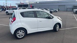2013 Holden Barina Spark MJ MY14 CD White 4 Speed Automatic Hatchback.