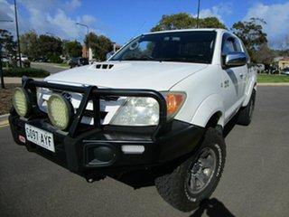 2006 Toyota Hilux KUN26R SR5 (4x4) White 5 Speed Manual X Cab Pickup