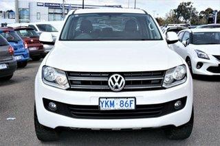2014 Volkswagen Amarok 2H MY14 TDI400 4Mot Trendline Candy White 6 Speed Manual Utility.