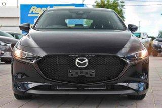 2021 Mazda 3 BP2H7A G20 SKYACTIV-Drive Pure Black 6 Speed Sports Automatic Hatchback.