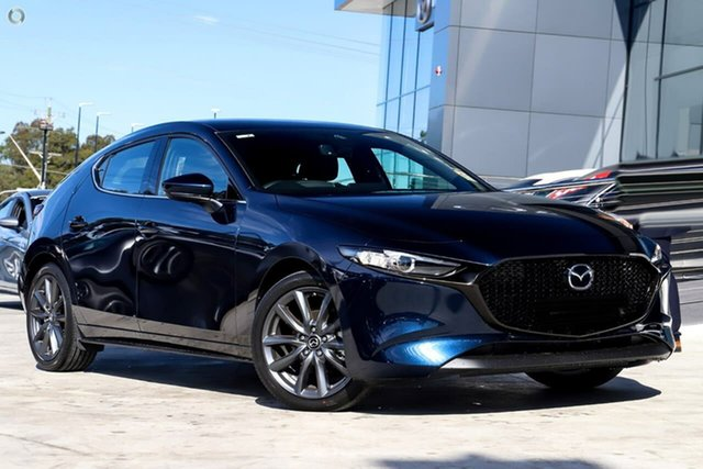 New Mazda 3 BP2HLA G25 SKYACTIV-Drive GT Waitara, 2021 Mazda 3 BP2HLA G25 SKYACTIV-Drive GT Blue 6 Speed Sports Automatic Hatchback