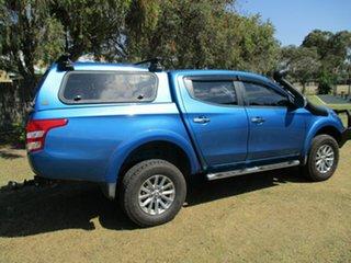 2016 Mitsubishi Triton MQ MY17 GLS Double Cab Blue 5 Speed Sports Automatic Utility