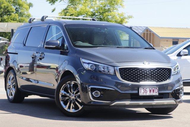 Used Kia Carnival YP MY17 Platinum Bundamba, 2016 Kia Carnival YP MY17 Platinum Grey 6 Speed Sports Automatic Wagon