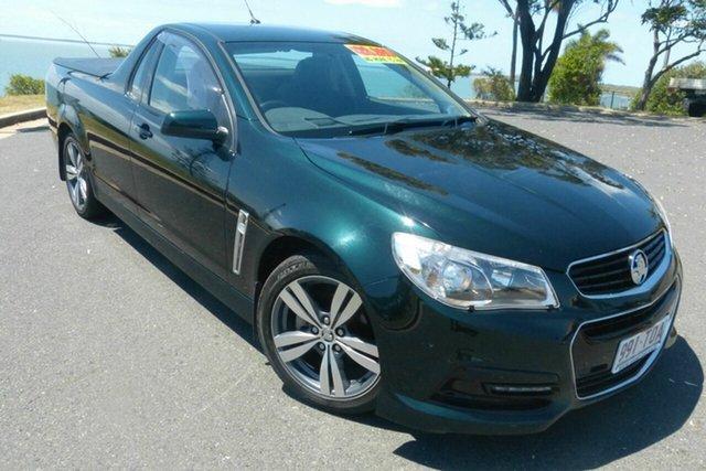 Used Holden Ute VF MY14 SV6 Ute Gladstone, 2013 Holden Ute VF MY14 SV6 Ute Green 6 Speed Sports Automatic Utility