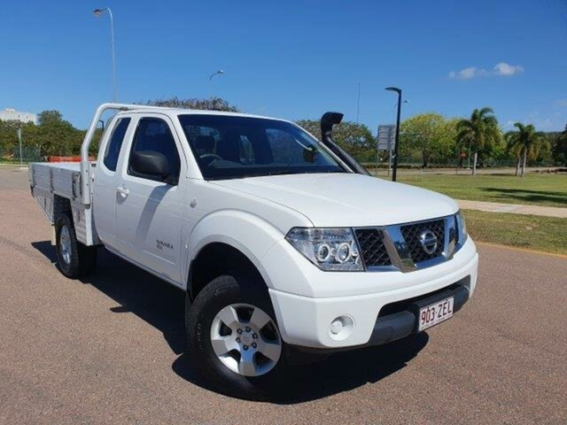 Used Nissan Navara D40 RX Townsville, 2009 Nissan Navara D40 RX White 6 Speed Manual Cab Chassis