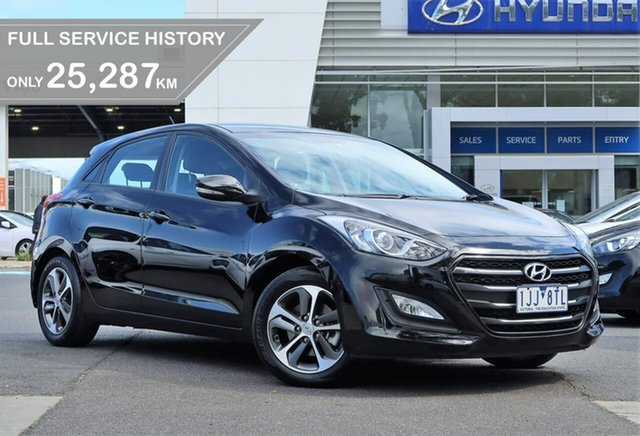 Used Hyundai i30 GD4 Series II MY17 Active X South Melbourne, 2016 Hyundai i30 GD4 Series II MY17 Active X Black 6 Speed Sports Automatic Hatchback