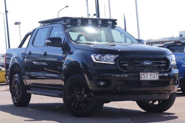 Used Ford Ranger PX MkIII 2019.00MY XLT Toowoomba, 2019 Ford Ranger PX MkIII 2019.00MY XLT Black 10 Speed Sports Automatic Double Cab Pick Up