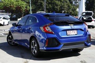 2019 Honda Civic 10th Gen MY18 VTi Blue 1 Speed Constant Variable Hatchback.