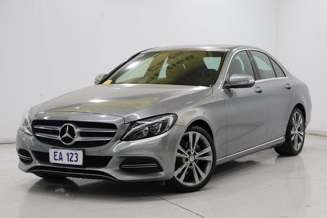 Used Mercedes-Benz C-Class W205 C200 7G-Tronic + Brooklyn, 2014 Mercedes-Benz C-Class W205 C200 7G-Tronic + Silver 7 Speed Sports Automatic Sedan