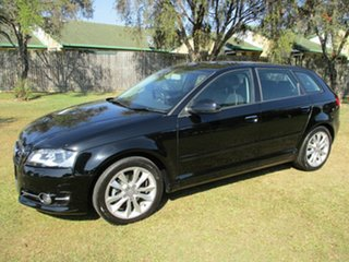 2013 Audi A3 8V Ambition Sportback S Tronic Black 7 Speed Sports Automatic Dual Clutch Hatchback.