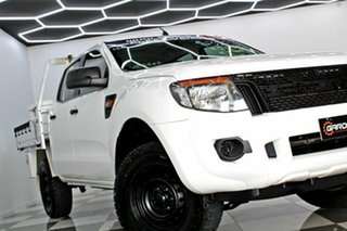 2014 Ford Ranger PX XL 2.2 (4x4) White 6 Speed Automatic Crew Cab Chassis.