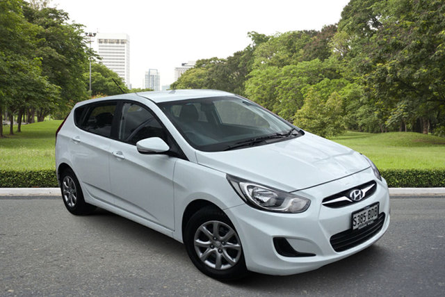 Used Hyundai Accent RB2 MY15 Active Paradise, 2014 Hyundai Accent RB2 MY15 Active White 4 Speed Sports Automatic Hatchback
