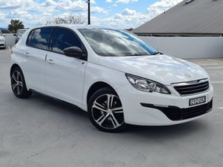 2015 Peugeot 308 T9 Access White 6 Speed Sports Automatic Hatchback.