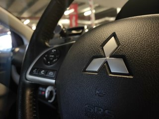2013 Mitsubishi Mirage LA MY14 ES Metallic Silver 1 Speed Constant Variable Hatchback