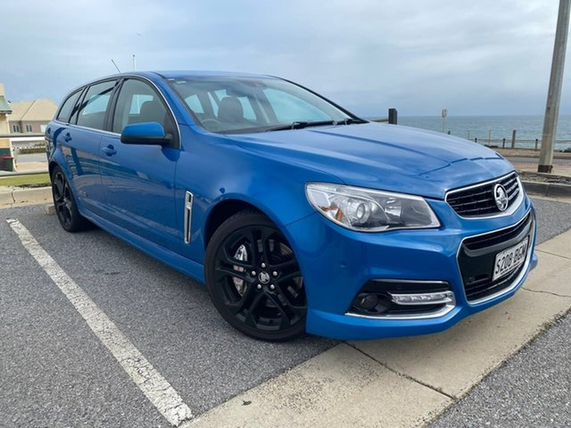 Used Holden Commodore VF MY15 SS V Sportwagon Christies Beach, 2015 Holden Commodore VF MY15 SS V Sportwagon Blue 6 Speed Sports Automatic Wagon