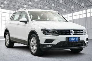 2019 Volkswagen Tiguan 5N MY19.5 132TSI DSG 4MOTION Comfortline Pure White 7 Speed.