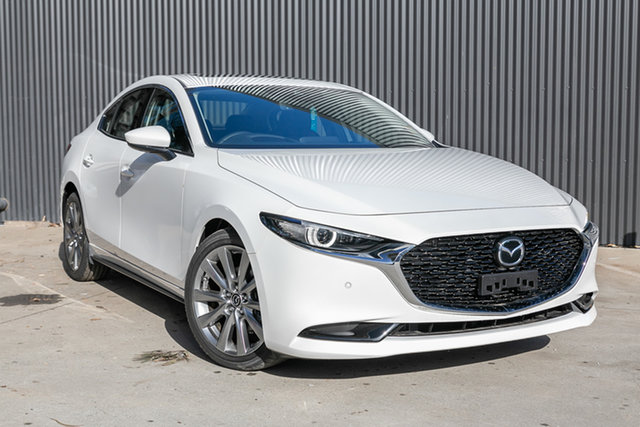 Demo Mazda 3 BP2SLA G25 SKYACTIV-Drive Astina Mornington, 2021 Mazda 3 BP2SLA G25 SKYACTIV-Drive Astina Snowflake White Pearl 6 Speed Sports Automatic Sedan