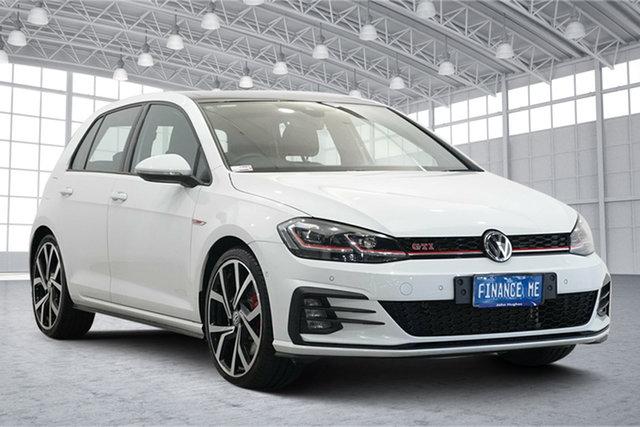 Used Volkswagen Golf 7.5 MY19.5 GTI DSG Victoria Park, 2019 Volkswagen Golf 7.5 MY19.5 GTI DSG Pure White 7 Speed Sports Automatic Dual Clutch Hatchback