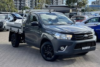 2019 Toyota Hilux TGN121R MY19 Upgrade Workmate Grey 6 Speed Automatic Cab Chassis.
