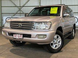 2002 Toyota Landcruiser UZJ100R Sahara Gold 5 Speed Automatic Wagon.