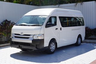 2014 Toyota HiAce KDH223R MY14 Commuter High Roof Super LWB White 4 Speed Automatic Bus
