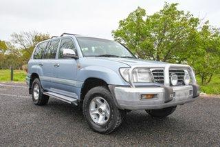 2002 Toyota Landcruiser FZJ105R GXL Advantage Limited Edition Blue 4 Speed Automatic Wagon.