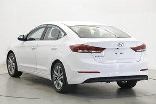 2017 Hyundai Elantra AD MY18 Elite White 6 Speed Sports Automatic Sedan.