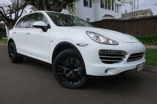 2014 Porsche Cayenne 92A MY14 Diesel Tiptronic Platinum Edition White 8 Speed Sports Automatic Wagon.