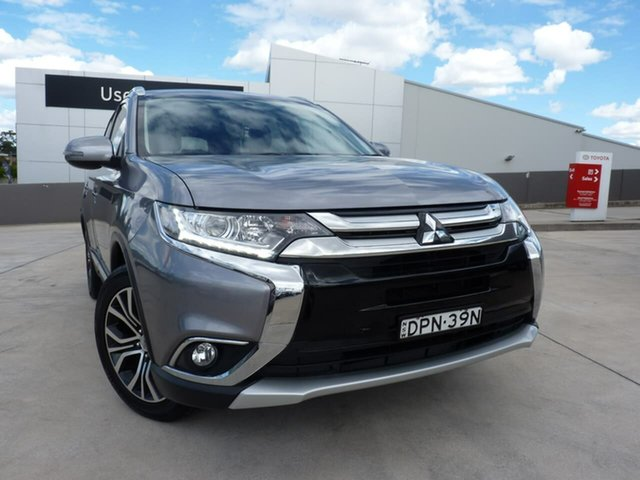 Pre-Owned Mitsubishi Outlander ZK MY17 LS 4WD Blacktown, 2017 Mitsubishi Outlander ZK MY17 LS 4WD Grey 6 Speed Constant Variable Wagon