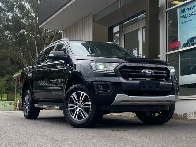 Used Ford Ranger PX MkIII 2020.25MY Wildtrak Clare, 2019 Ford Ranger PX MkIII 2020.25MY Wildtrak Black 10 Speed Sports Automatic Double Cab Pick Up