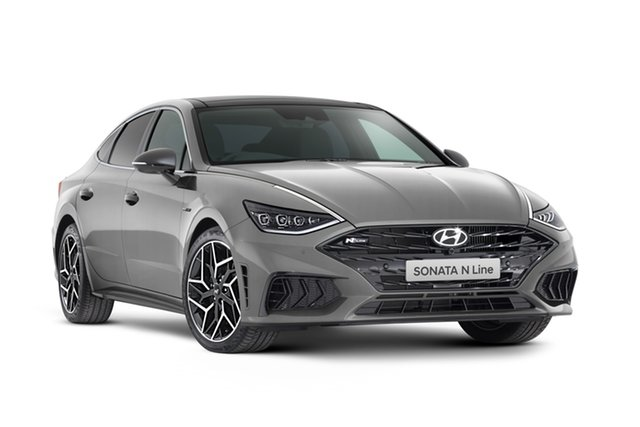 Demo Hyundai Sonata DN8.V1 MY21 N Line DCT Geelong, 2021 Hyundai Sonata DN8.V1 MY21 N Line DCT Hampton Grey 8 Speed Automatic Sedan