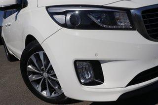 2015 Kia Carnival YP MY16 SLi Clear White 6 Speed Sports Automatic Wagon.