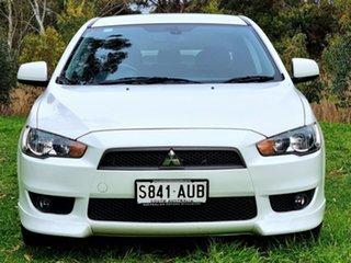 2009 Mitsubishi Lancer CJ MY09 VR-X White 5 Speed Manual Sedan.