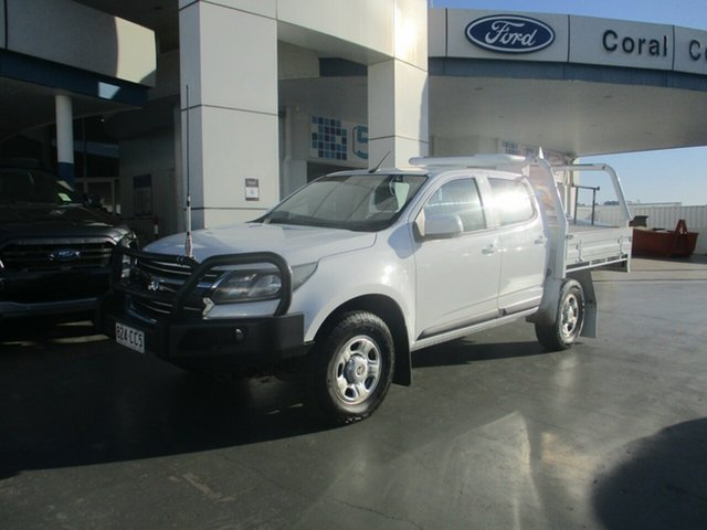 Used Holden Colorado LS LS (4x4) Bundaberg, 2017 Holden Colorado LS LS (4x4) White 6 Speed Automatic Dual Cab Chassis