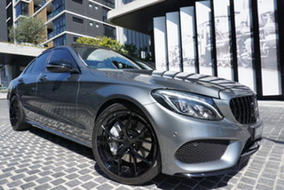 2016 Mercedes-Benz C-Class W205 C43 AMG Selenite Grey 9 Speed Sports Automatic Sedan.