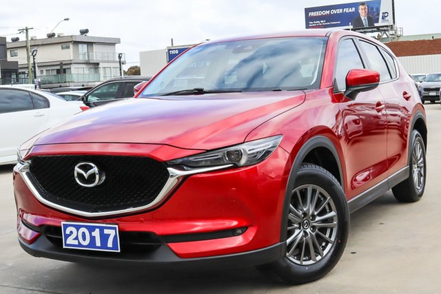 Used Mazda CX-5 KF4WLA Touring SKYACTIV-Drive i-ACTIV AWD Coburg North, 2017 Mazda CX-5 KF4WLA Touring SKYACTIV-Drive i-ACTIV AWD Red 6 Speed Sports Automatic Wagon