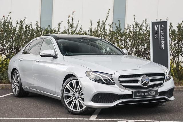 Certified Pre-Owned Mercedes-Benz E-Class W213 E200 9G-Tronic PLUS Mulgrave, 2016 Mercedes-Benz E-Class W213 E200 9G-Tronic PLUS Iridium Silver 9 Speed Sports Automatic Sedan