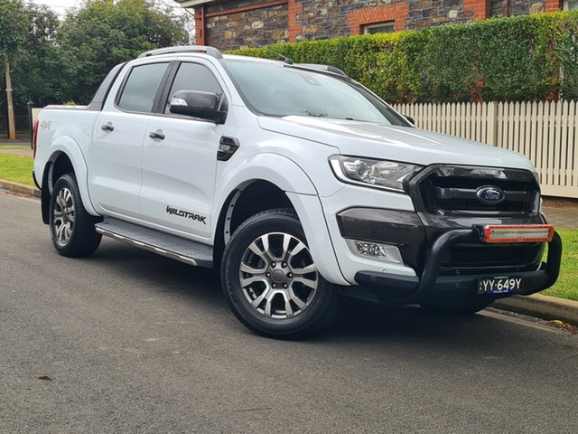 Used Ford Ranger PX MkII Wildtrak Double Cab Hyde Park, 2017 Ford Ranger PX MkII Wildtrak Double Cab White 6 Speed Sports Automatic Utility