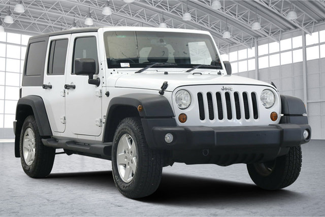 Used Jeep Wrangler JK MY2014 Unlimited Sport Victoria Park, 2013 Jeep Wrangler JK MY2014 Unlimited Sport White 6 Speed Manual Softtop
