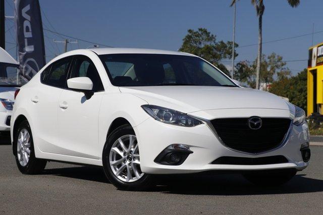 Used Mazda 3 BM5278 Maxx SKYACTIV-Drive Rocklea, 2016 Mazda 3 BM5278 Maxx SKYACTIV-Drive Snowflake White Pearl 6 Speed Sports Automatic Sedan