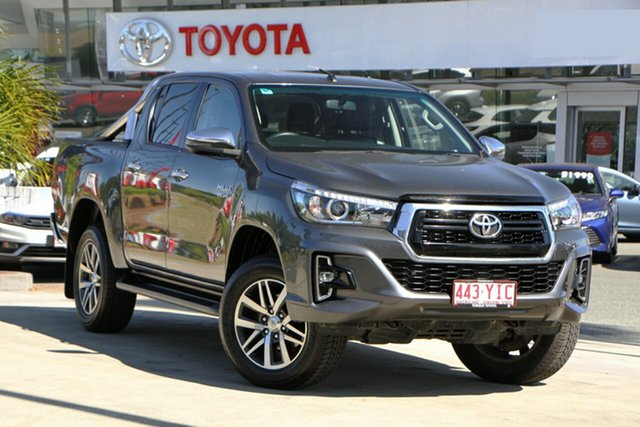 Used Toyota Hilux GUN126R SR5 Double Cab North Lakes, 2018 Toyota Hilux GUN126R SR5 Double Cab Graphite 6 Speed Sports Automatic Utility