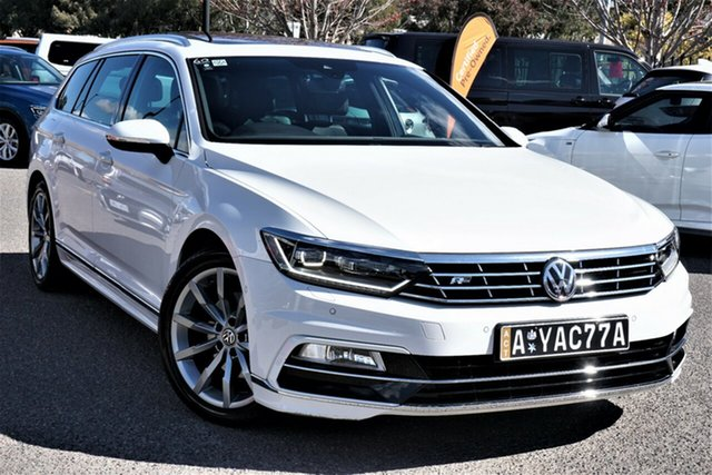Used Volkswagen Passat 3C (B8) MY18 132TSI DSG Comfortline Phillip, 2017 Volkswagen Passat 3C (B8) MY18 132TSI DSG Comfortline Pure White 7 Speed