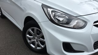 2014 Hyundai Accent RB2 MY15 Active White 4 Speed Sports Automatic Hatchback.