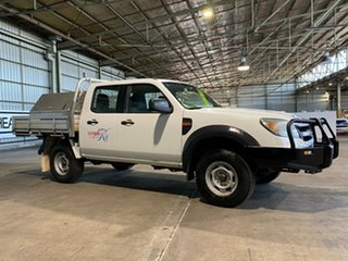 2010 Ford Ranger PK XL Crew Cab White 5 Speed Automatic Cab Chassis.